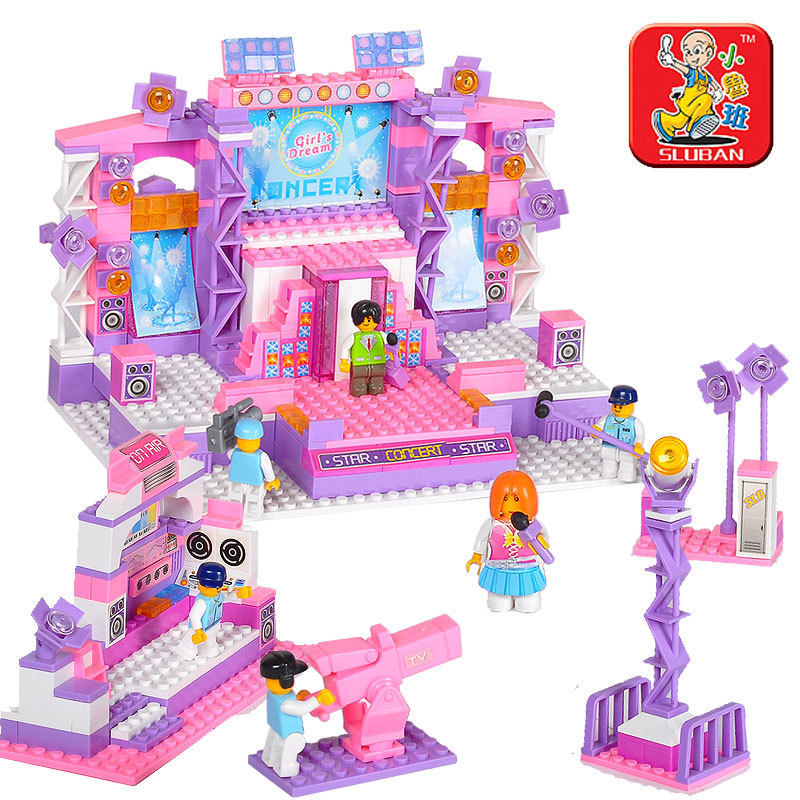 Building Block Set Compatible lego new city girl Dream Stage 3D Construction Brick Educational Hobbies Toys Kid