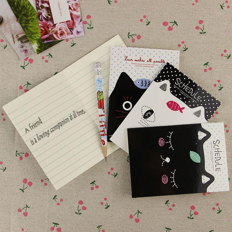 1pcs Portable Mini Notepad Cute Cartoon Cat Style Filofax Notebook Diary Book Students Office Stationery(China (Mainland))