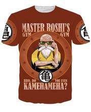 Anime Dragon Ball Z T shirts Goku/Vegeta/Master Roshi t shirts tees Super Saiyan 3D t shirt Women Men Summer Casual tee shirts