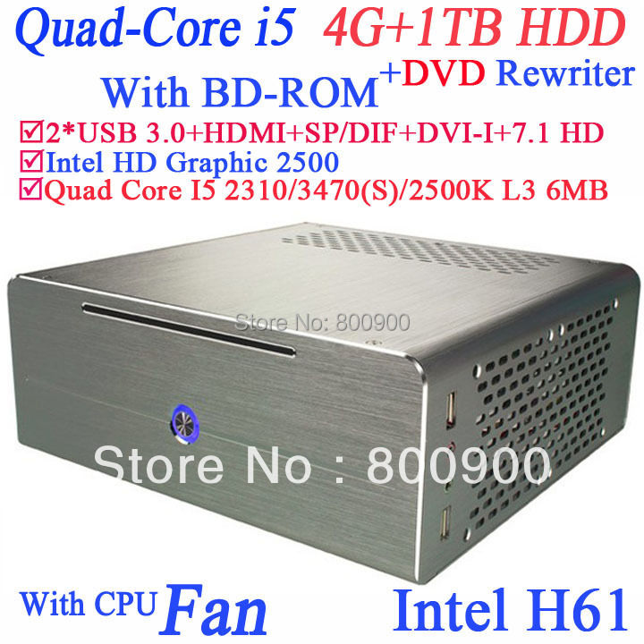 box pc industrial small alluminum server with Intel Quad Core i5 2310 2.9Ghz 3470 3.2Ghz 2500K 3.3Ghz 3470S 3.2Ghz windows 7 64<br><br>Aliexpress