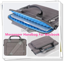 "Hot Sales Shoulder Messenger Handbag For Macbook Laptop AIR PRO 11.6"",13.3"",15.4 inch, Protecter Case,  Free Drop Shipping(China (Mainland))"