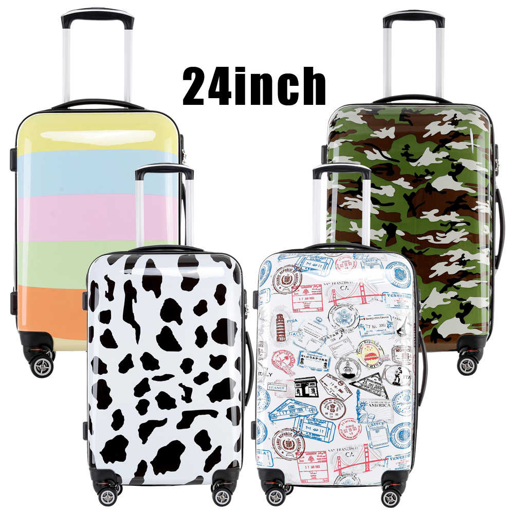 Printed ABS PC hard shell trolley travel luggage