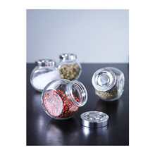Spice jar with lid, glass 4 pack, 15 cl, 8 cm, aluminium-colour(China (Mainland))