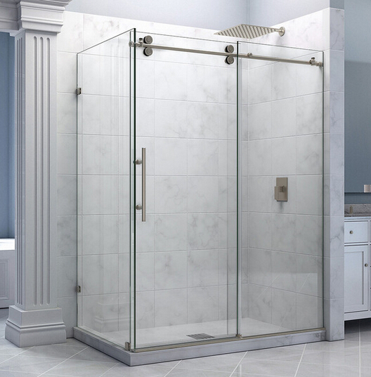 5ft 6 6ft frameless sliding shower door hardware shower for Six foot sliding glass door