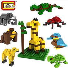 LOZ Minifigures Animal Giraffe Bird Spider Scorpion Crocodile Collection Building Blocks Bricks Model Toys Action Figures