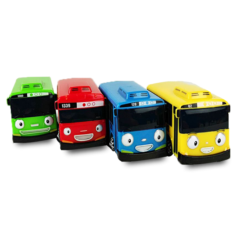 4Pcs/Set Toy Car Scale Model car tayo children miniature bus mini plastic babies toys little tayo tayo bus toys for children(China (Mainland))