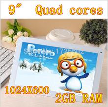 9 inch Quad Core 1024X600 DDR3 2GB ram 16GB Wifi Camera 3G HDMI Tablet PC Tablets PCS Android4.2 7 8 10
