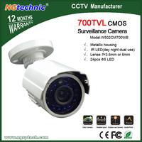 Free shipping most popular 700TVL Waterproof Outdoor Camera with CMOS sensor 24pcs Blue light day&night monitoring