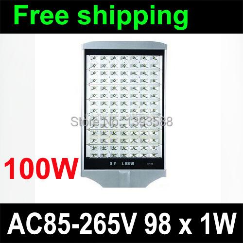 LED street light 100W 98pcs high power 1w LED AC85-265v 3 years warranty(China (Mainland))
