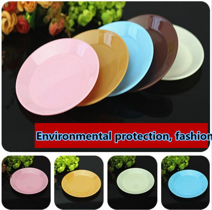Colorful food grade plastic tableware small dish snack melon seeds flat plate wholesale(China (Mainland))