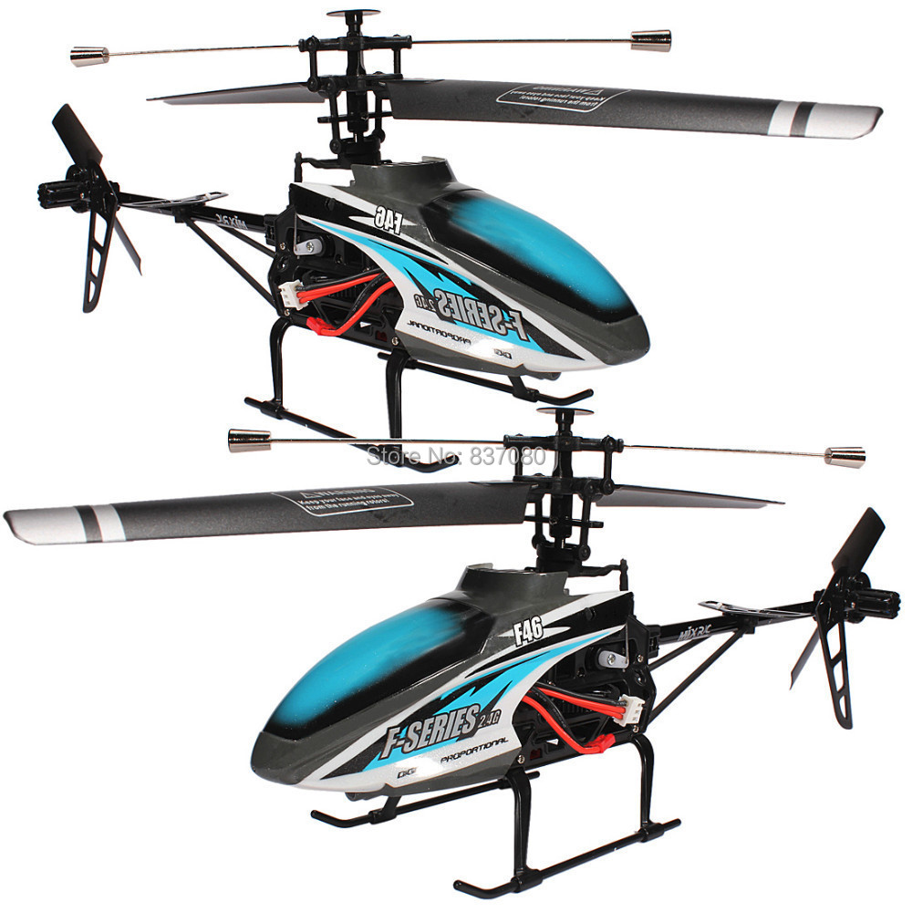 51CM Free-shipping Hot Blue MJX F46 F646 F-Series 51CM 2.4G 4CH Single-Rotor RC Remote Control Helicopter LCD/PRO MEMS GYRO Toy<br><br>Aliexpress