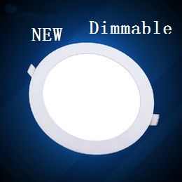 Ultra Thin Dimmable Led Panel Downlight 3w 4w 6w 9w 12w 15w 25w Round LED Ceiling Recessed Light AC110-220V LED Panel Light(China (Mainland))