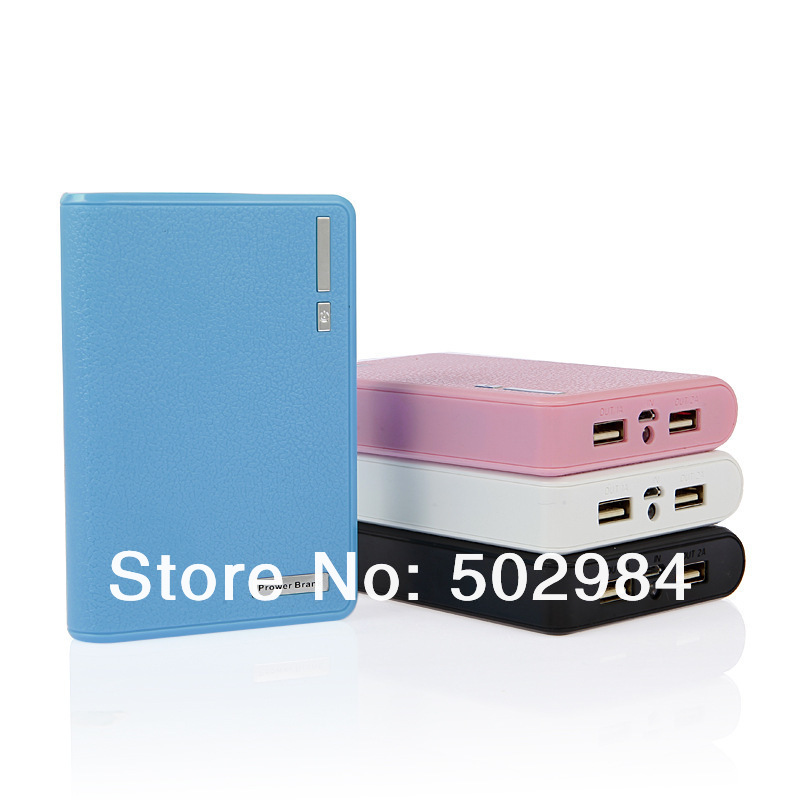 4 Connectors + 20000mAh Wallet Portable Power Bank for iPhone iPad Mini iPod HTC Samsung S4 S5 Dual USB Battery Pack Charger