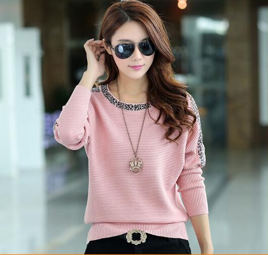 Женские осенние и зимние одежды свободный шею свитер хеджирования корейских битой ...