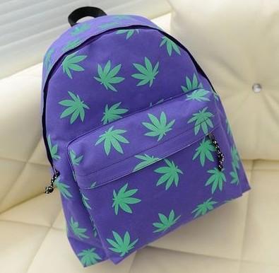 Ladies fashion canvas bag girl schoolbag college wind women retro maple backpacks(China (Mainland))