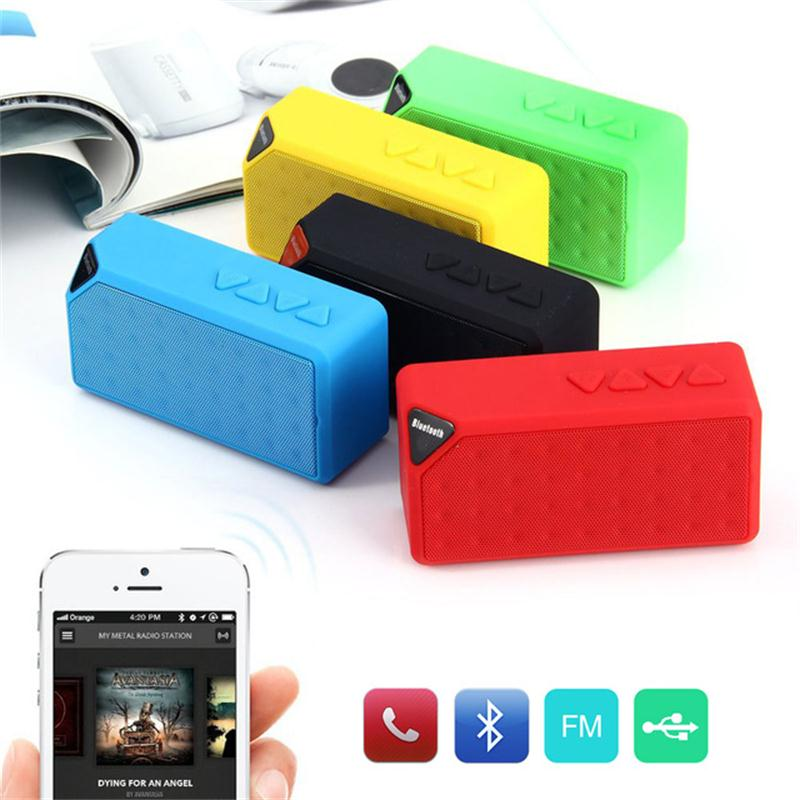 Bluetooth Speaker Wireless Portable Mini X3 TF Card/USB Disk Player FM Radio Altavoz with Detachable Battery Handsfree Call(China (Mainland))