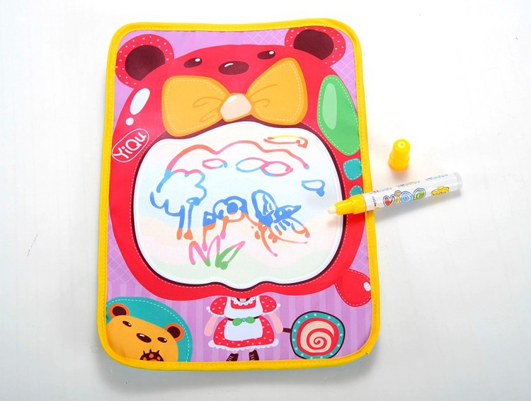 New Arrival Kids Toys Magic Water Canvas Baby Cute Cartoon Water Drawing Mat New Baby Drawing Toys Coloring Books For Kids(China (Mainland))