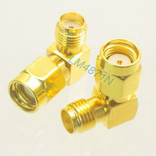 Buy Adapter 10x 90 RP.SMA male Jack SMA female jack RF connector right angle M/F for $18.00 in AliExpress store