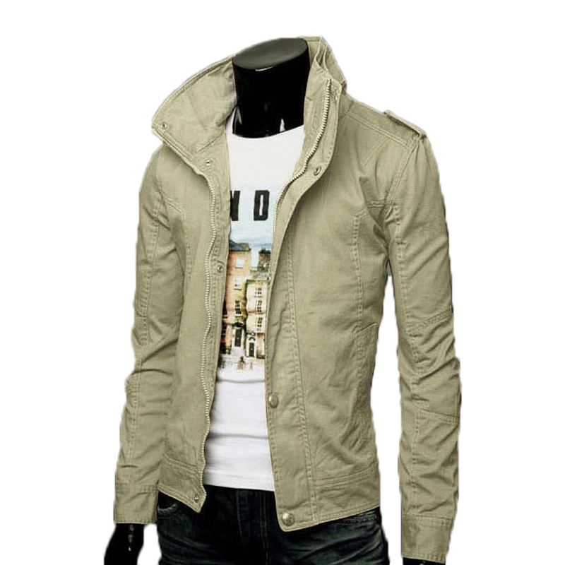 Fashion Men s Cotton Casual Sports Shirt Jackets Slim British Style Jacket chaqueta hombre Autumn Winter