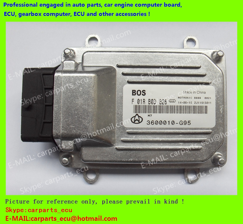 For CHANA car engine computer board/ECU/ Electronic Control Unit/Car PC/ F01RB0DG26 3600010-G95 4G13 /driving computer(China (Mainland))