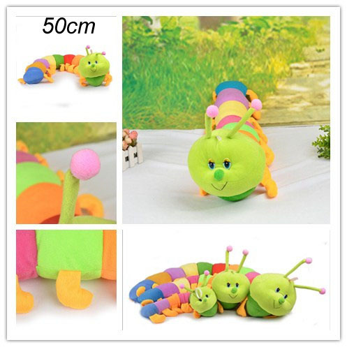 1PCS 50cm Baby Toys 2 years Caterpillars Millennium Bug Doll Plush Toys Large Long Stuffed Animal Pillow toys for children(China (Mainland))