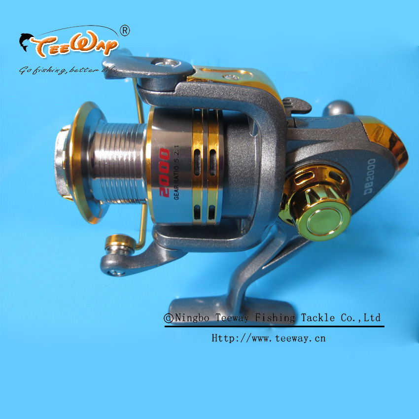 Teeway Brand TNR 300/400 Metal Spinning Fishing Reels Carp Ice Fishing Gear 5.2:1 Real 5+1BB Spool fishing tackle DB-DB03(China (Mainland))
