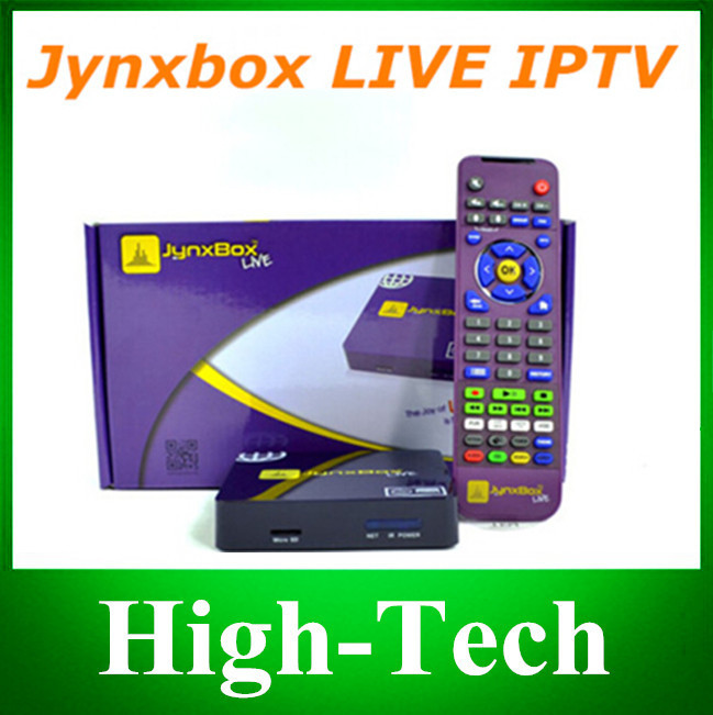 The 2014 newest--North America Jynxbox Live IPTV Jynxbox Live Media Streamer with one year account to watch TV world cup iptv(China (Mainland))