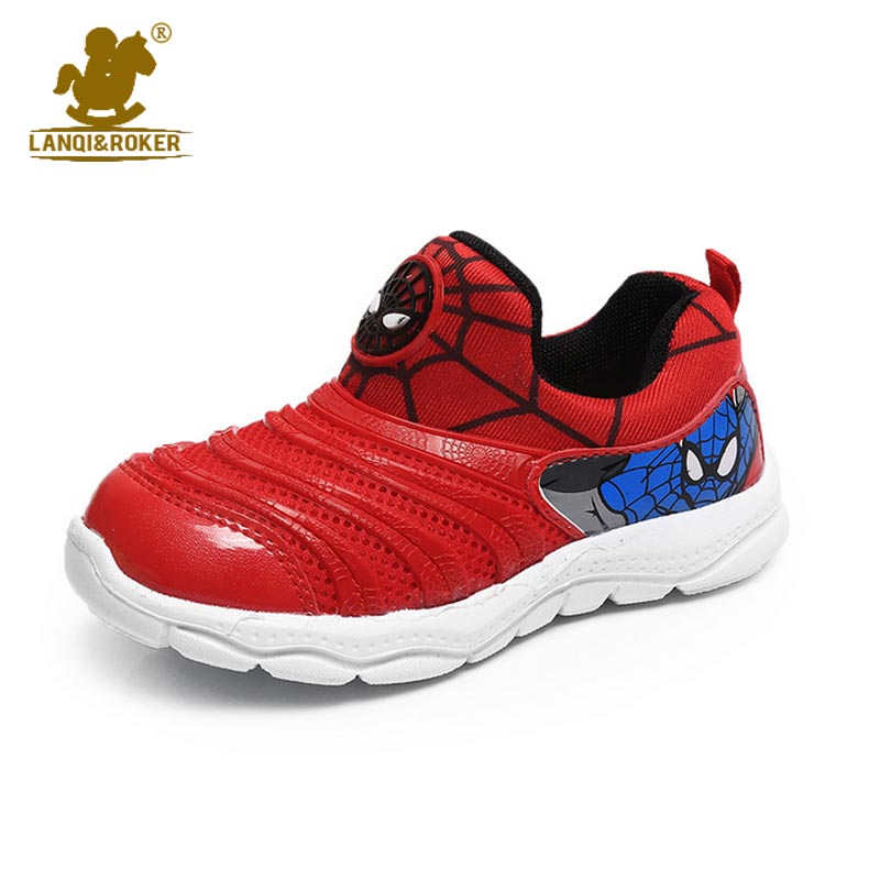 Summer Children Sneakers Slip-resistant Running Shoes Boy Sport Sneakers Girls Boys School Shoes Kids Spiderman Air Mesh Sandals(China (Mainland))