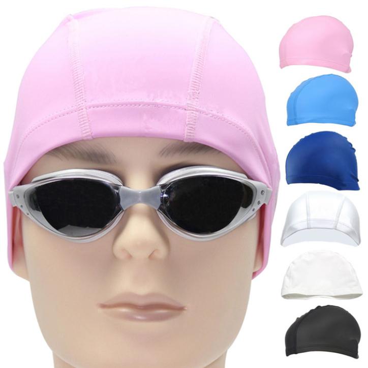 Hot Marketing New Fashion Unisex Adult PU Swim Swimming Hat Cap One Size Fit All June12(China (Mainland))