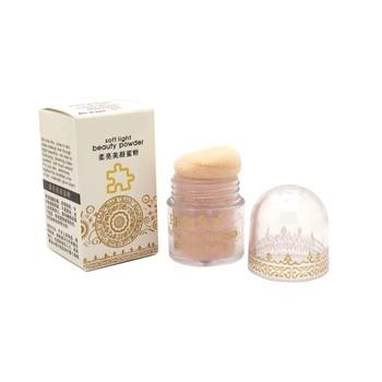 Матирование чистой минеральной электропитание 4 цвета 2на1 лица компактный кожи макияж ...