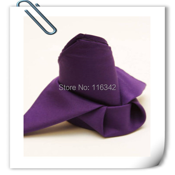 100pcs Top Quality Factory Direct Sale Purple Polyester Napkin 50*50cm For Wedding Event &Party Decoration FREE SHIPPING(China (Mainland))