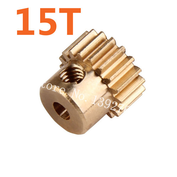 11185 Motor Gear 15T Metal Brass Pinion HSP Parts For 1/10 Electric Model Car 4WD Monster Truck 94111 Pro Hobby Baja Himoto(China (Mainland))