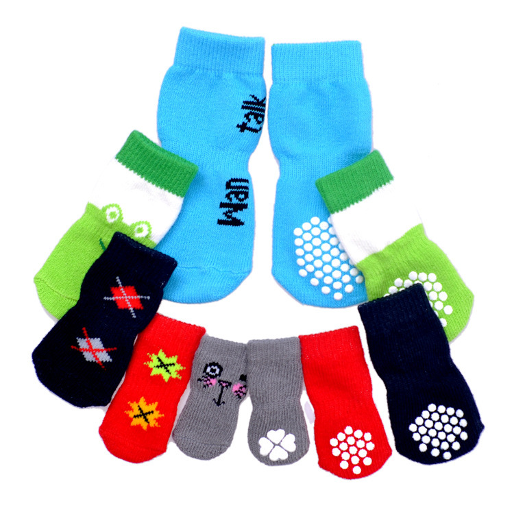 Pet supplies a variety of flowers dog comfortable and breathable socks socks wholesale pet dog socks paragraph(China (Mainland))