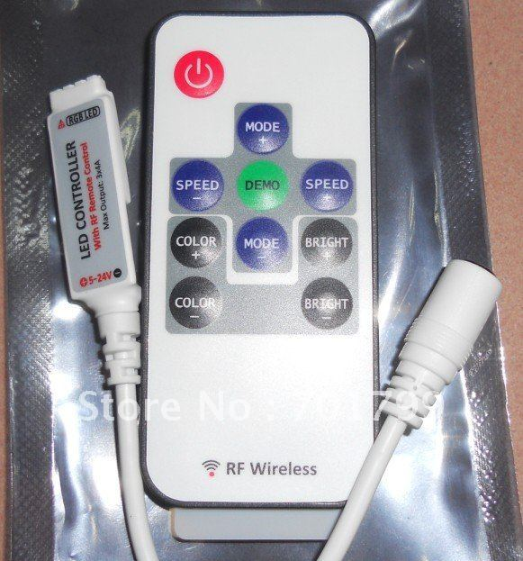 smart led rf RGB controller,DC5-24V input,max 4A*3 channel output