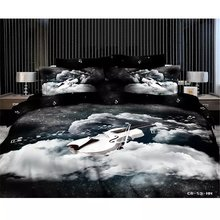 Black white music noted bedding sets,220 x240cm 100% Cotton Bedding Sets 4pc,500TC 3D king size black white music duvet cover(China (Mainland))