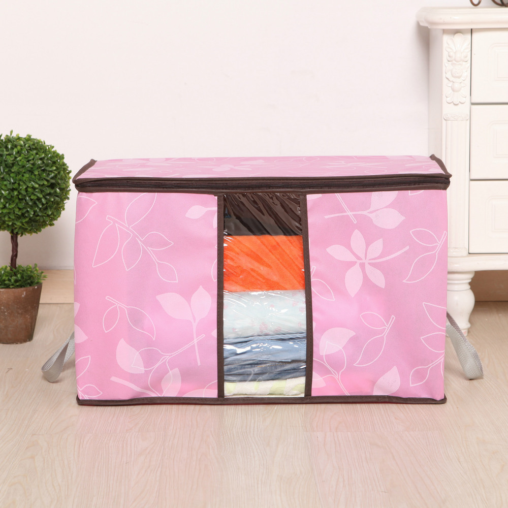 2015 Sale New Box Basket Muli-function Folding Fabric High-capacity Non-woven Storage Bag With Window Buggy Clothing Organizer(China (Mainland))