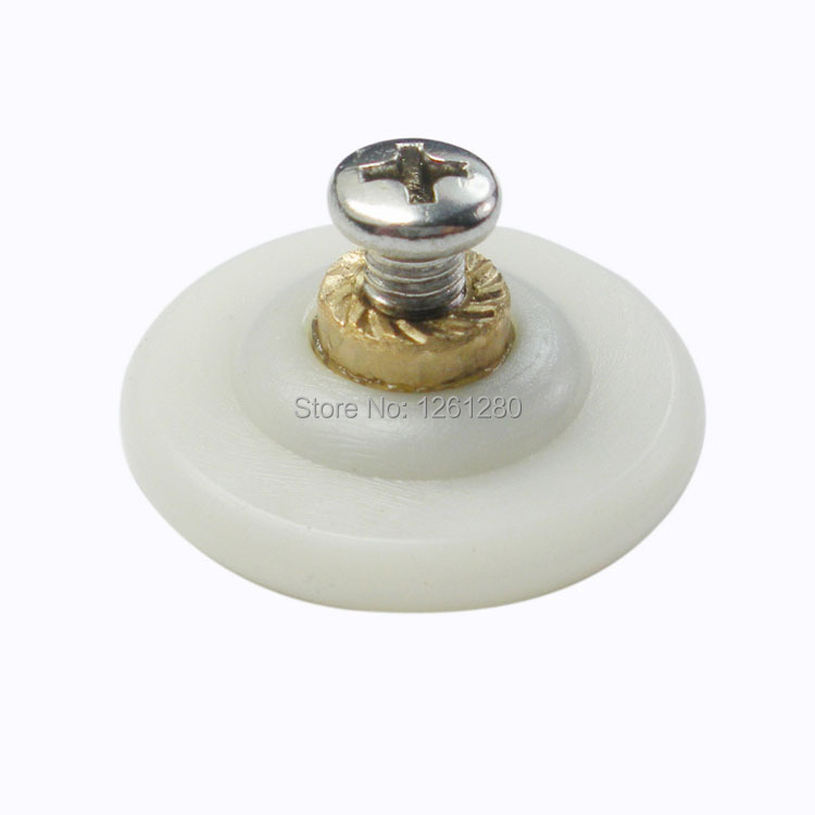 free shipping 28mm nylon shower room pulley glass sliding door roller hanging round wheel household hardware part furniture<br><br>Aliexpress