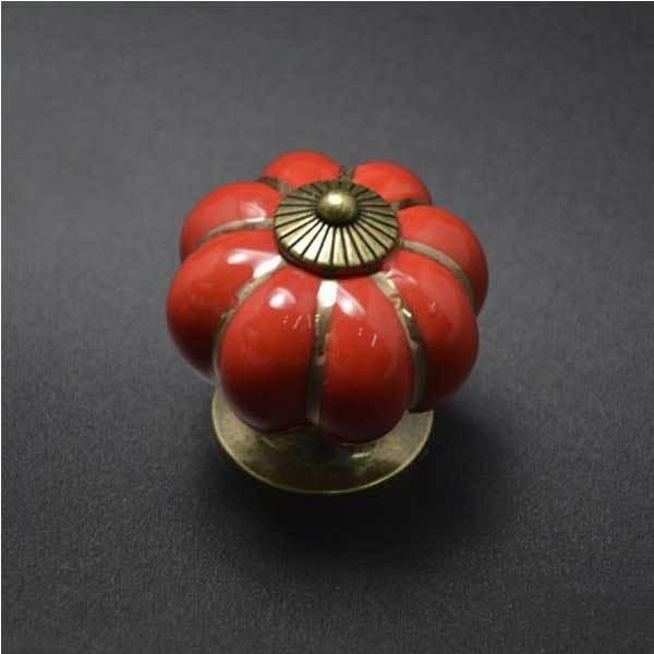 BuyNao Cheap Pumpkins Knobs Handles Ceramic Door Handles Cabinets Cupboard Drawer(China (Mainland))