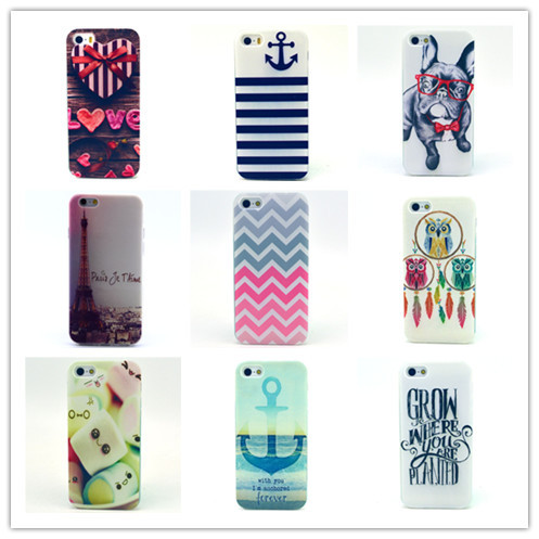 Patterns Plastic Soft TPU Phone Case iphone 5s Silicone Cover - Apbest Trading Ltd. store