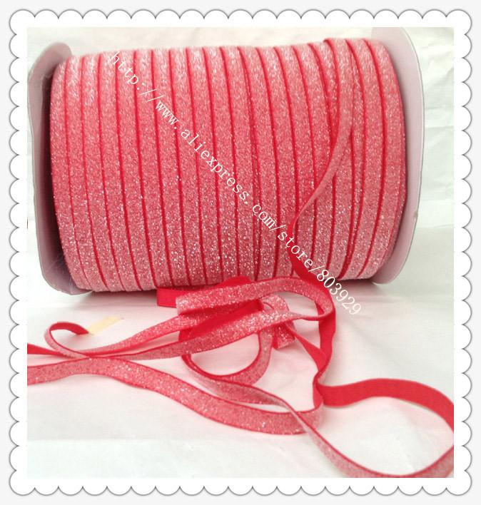 """Stretch Metallic Velvet Ribbon Hot Red Sparkle Ribbon 5/8"""" Elastic Glitter Velvet Ribbon(China (Mainland))"""