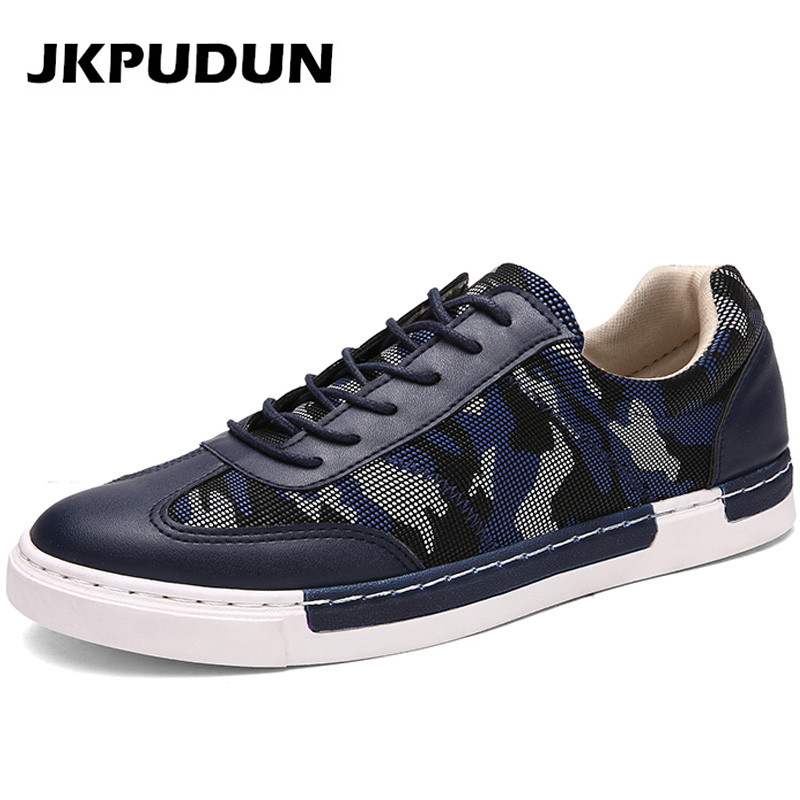 italian fashion mens blue camouflage shoes casual leather