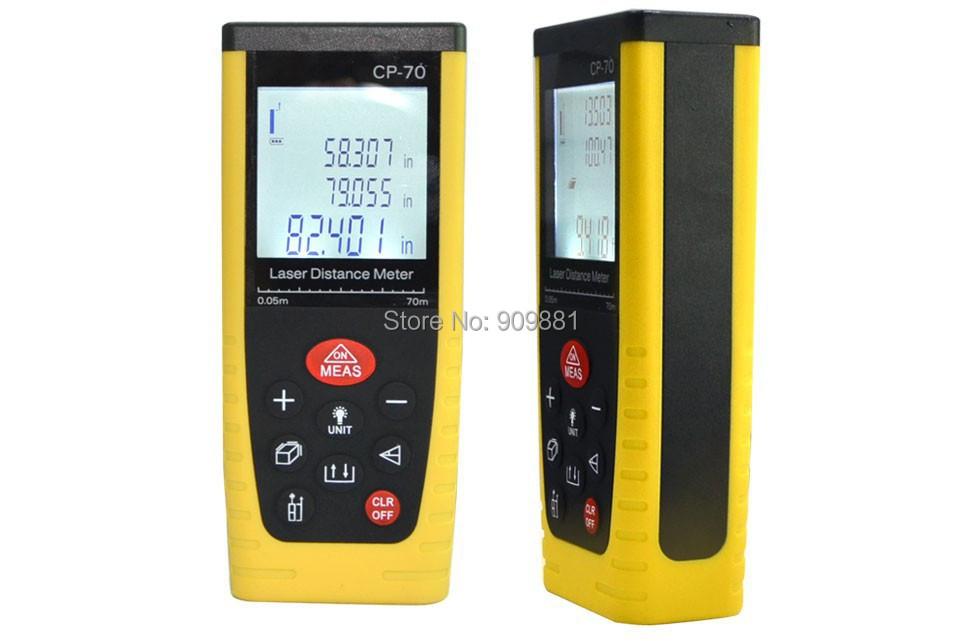 10pcs/lot 0.05M-40M /131ft Handheld Digital Laser Distance Meter RangeFinder Area Volume With Bubble Level Measurer Tool