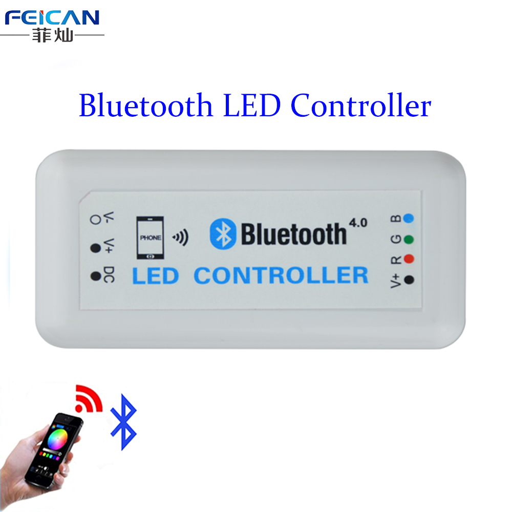 DC12-24V 12A RGB Bluetooth LED Controller Bluetooth 4.0 By Android/IOS Phone's APP Control For SMD5050 3528 RGB LED Strip Light(China (Mainland))