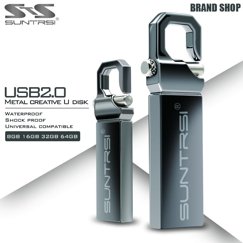 Suntrsi 32GB USB Flash Drive 64GB 16GB Pen Drive memoria usb stick 8GB 4GB Pendrive Stainless Steel USB 2.0 Flash Drive Freeship(China (Mainland))