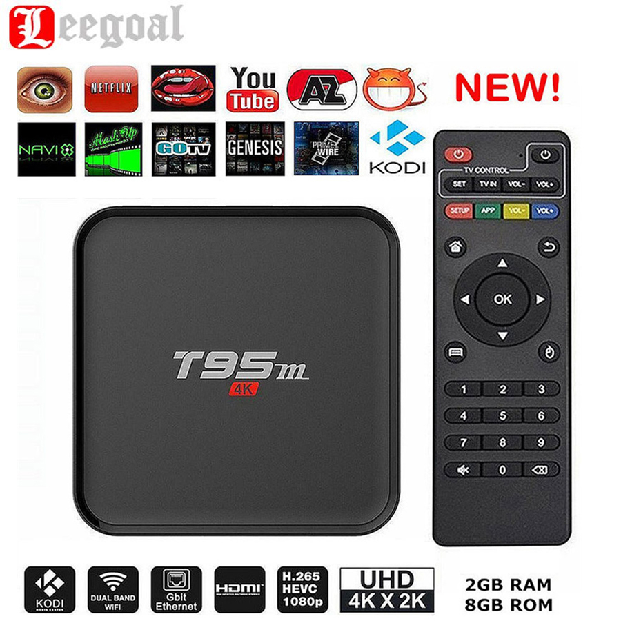 T95M Smart TV Box Amlogic S905 Quad Core 64Bit Android 5.1 4K UHD Set Top Box 2+8GB 2.4GHz WiFi Bluetooth 4.0 Smart TV Receivers(China (Mainland))