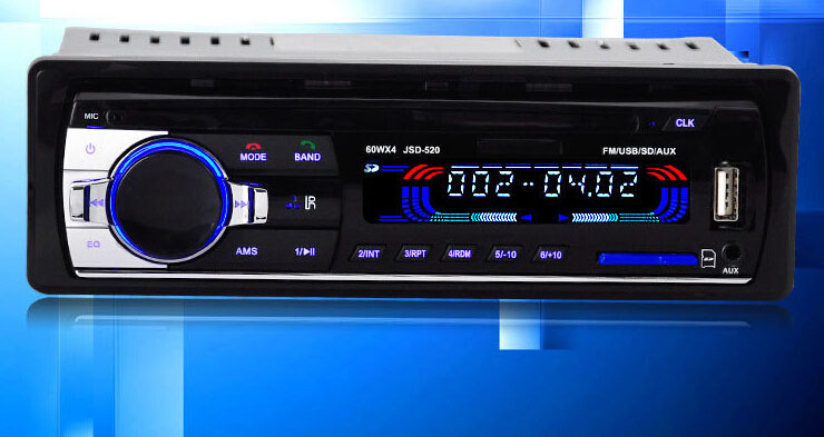 Bluetooth Car Stereo Audio FM Radio MP3 Audio Player 1 DIN In Dash FM Aux Input