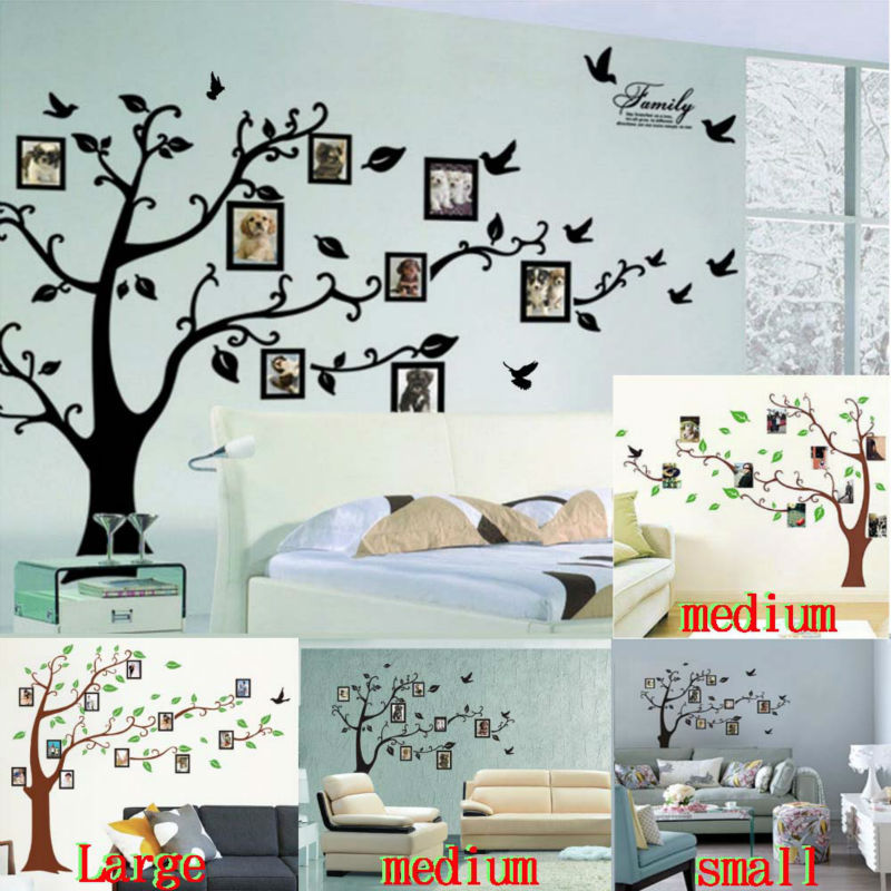 photo tree frame family forever memory tree wall decal decorative adesivo de parede removable pvc wall sticker diy zooyoo94AB(China (Mainland))