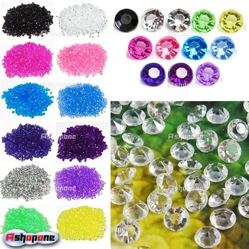 (1000pcs/pack) Wedding Table Confetti Diamonds Scatter Crystals Decorations(China (Mainland))