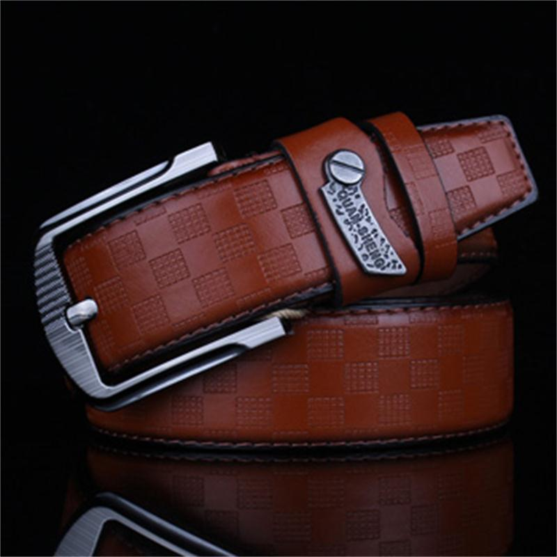 2015 New Mens Fashion Belts Leisure Business Casual Wild High Grade Luxury Pure Leather Antique Buckle