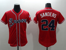 Top quality Men 6 Bobby Cox 10 Chipper Jones 24 Deion Sanders 44 Hank Aaron jersey new color white gray red blue green(China (Mainland))